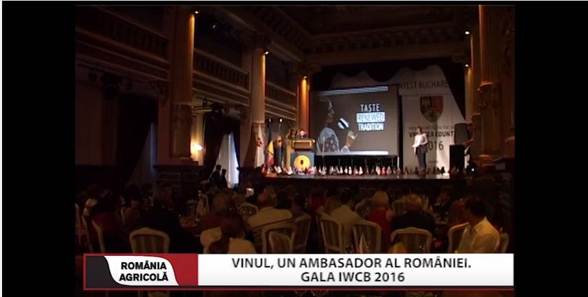 Vinul, un ambasador al Romaniei Gala IWCB 2016
